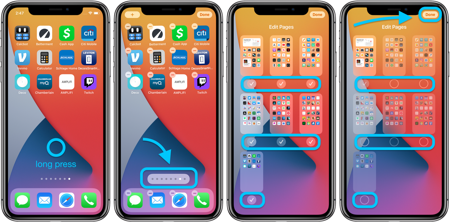 app pages in iOS 14