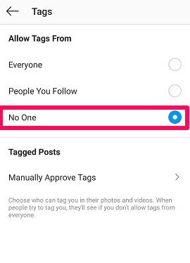 How to prevent being tagged in Instagram posts 1