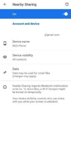How to activate and use the Nearby Share feature to transfer photos and files between Android phones